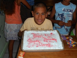 Danny with his birthday cake.
