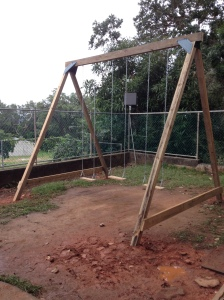 Kids new swing set