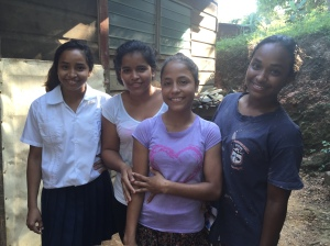 Kenya, Gabby, Jenny and Alisa from one of our home visits