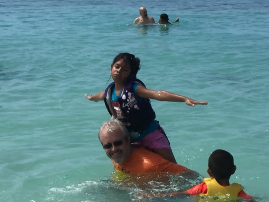 Dan and SIndy having fun in the water.