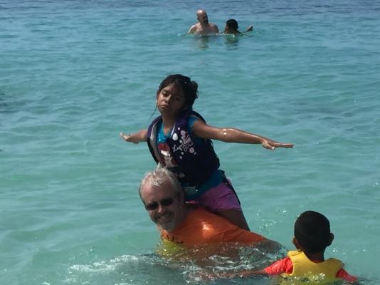 Dan and SIndy having fun in the water.