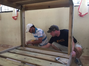Rich and Jose finishing a bunk bed.