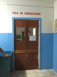 Entrance to the operating room